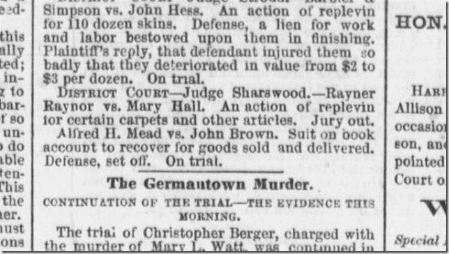 1861 Rayner Raynor vs Mary Hall